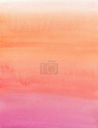 Photo pour Aquarelle. Beige, orange, rose, dégradé - image libre de droit
