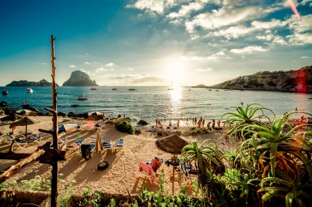 View of Cala d 'Hort Beach, Ibiza