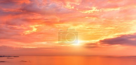 Photo for Beautiful sunset above the sea - Royalty Free Image