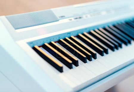 Electric piano close-up
