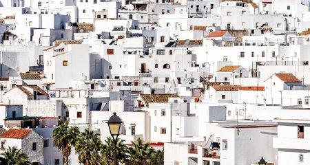Photo pour Toits de Vejer de la Frontera. Costa de la Luz, Espagne - image libre de droit