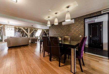 Foto de Interior de lujo de comedor moderno - Imagen libre de derechos