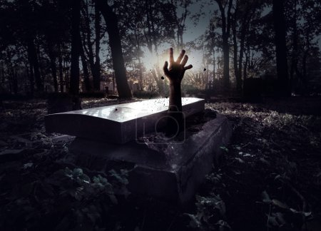 Photo for Hand rising out from the grave - Royalty Free Image