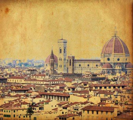 Photo pour Image vintage de la ville de Florence - Italie - image libre de droit