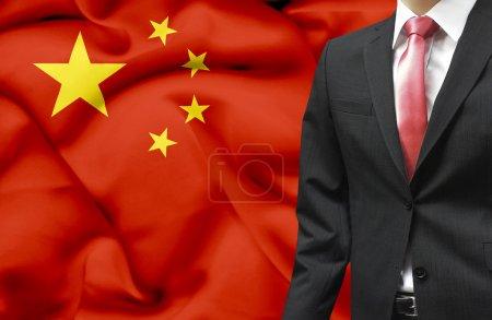 Photo pour Homme d'affaire d'image conceptuelle de Chine - image libre de droit