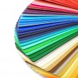 Color guide spectrum swatch samples rainbow on whi...
