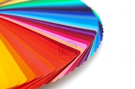 Photo for Rainbow color palette isolated on white - Royalty Free Image