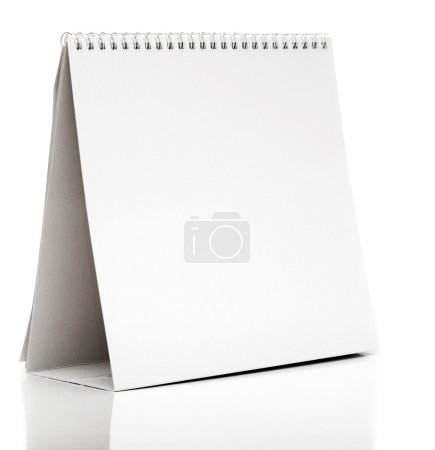 Photo for Desk Calendar isolated on white - Royalty Free Image