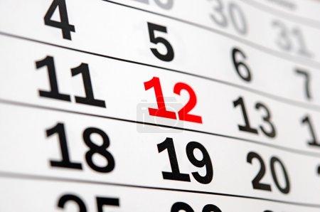 Calendario que muestra el final del tiempo o el plazo
