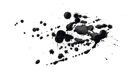 Photo pour Tache noire isolée sur blanc - image libre de droit