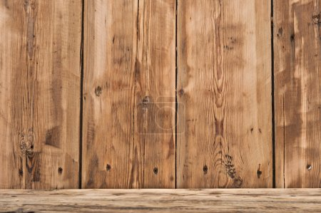Photo for Volume wooden shelf - Royalty Free Image