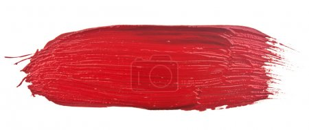 Photo for Red stroke of the paint brush isolated on white - Royalty Free Image