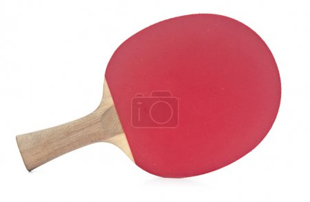 Photo for Table tennis racket on white background - Royalty Free Image