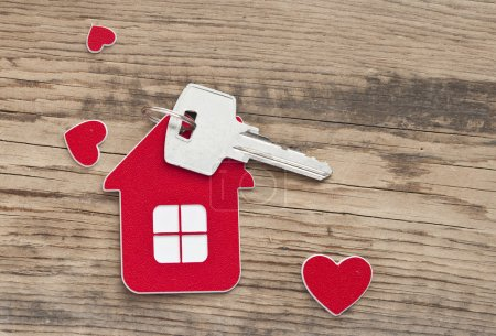 Photo for Key with label home - Royalty Free Image