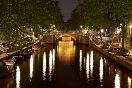 Amsterdam Triple Bridges at Night