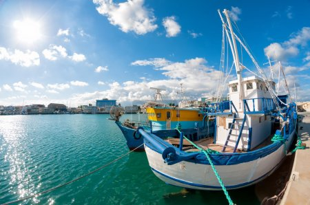 Old fishing boat in Limassol harbour.