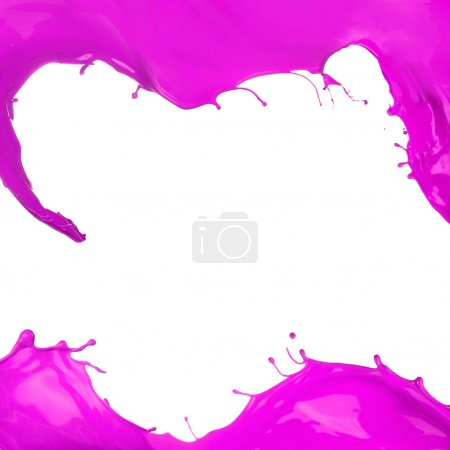 Photo for Colored paint splashes iframe on white background - Royalty Free Image