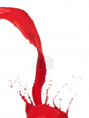 Colored paint splashe