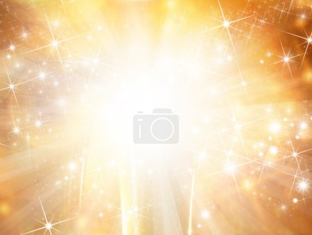 Photo for Christmas background with blur golden lights - Royalty Free Image
