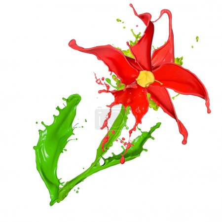 Abstract flower made of Colored splashes