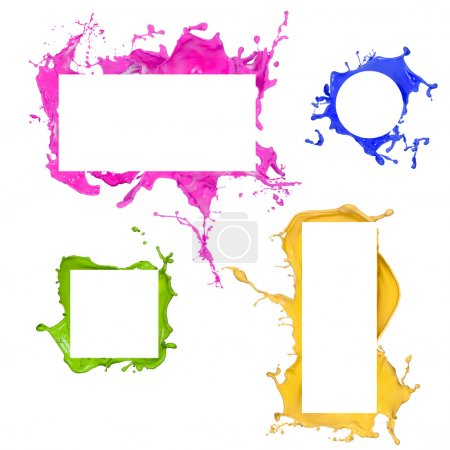 Colored paint splashes frames