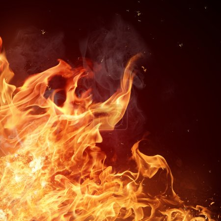 Photo for Fire flames background - Royalty Free Image