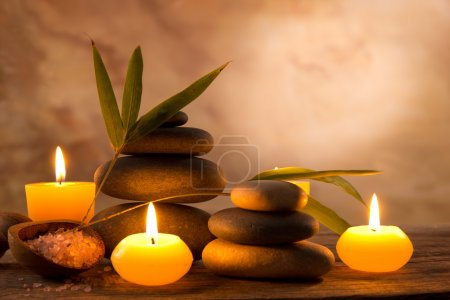 Photo for Spa still life with aromatic candles - Royalty Free Image