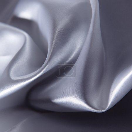 Photo pour Abstrait fond argenté tissu de luxe - image libre de droit