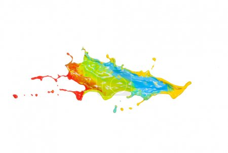 Abstract color splash