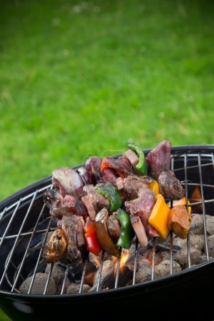 Tasty meat on grill