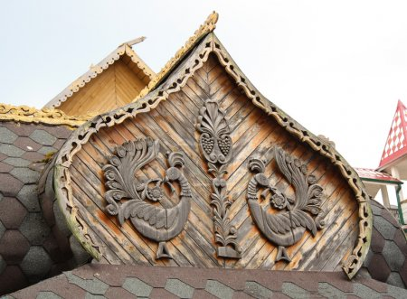 Traditional wooden Russian architecture