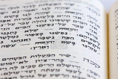 Photo pour La Bible hébraïque ouverte - image libre de droit