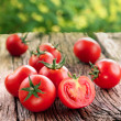 Tomatoes, cooked with herbs for the preservation o...