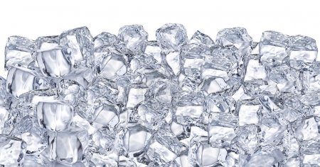 Photo for Ice cubes. File contains two clipping path - to the front and the back. - Royalty Free Image
