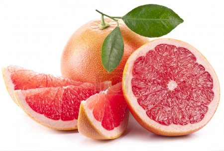 Photo for Grapefruit with slices on a white background. - Royalty Free Image