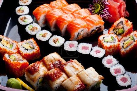 Different sushi rolls.