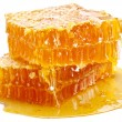 Honeycomb on a white background....