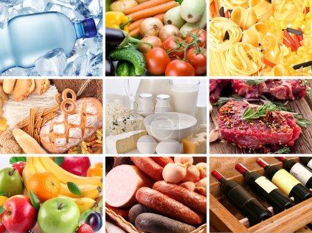 Photo pour Divers produits alimentaires différentes collectées dans un seul fichier. - image libre de droit