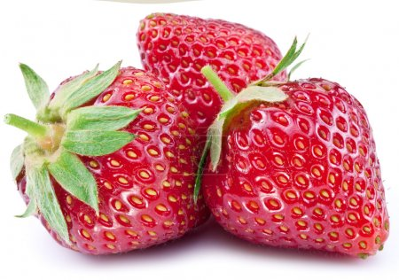 Photo for Strawberries isolated on a white background. - Royalty Free Image