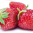 Strawberries isolated on a white background....