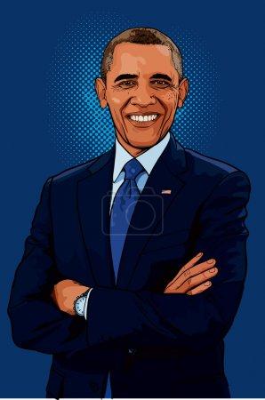 Photo pour Barack hussein obama ii est le 44e et actuel président des États-Unis, le premier afro-américain à occuper le poste. - image libre de droit