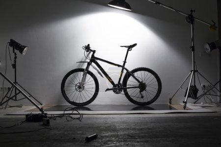 Bike on shooting in studio