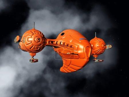 Photo pour Illustration 3D générée par ordinateur avec Spacecraft in Space - image libre de droit
