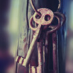 Background with mystery keys...