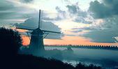 dutch morning landscape
