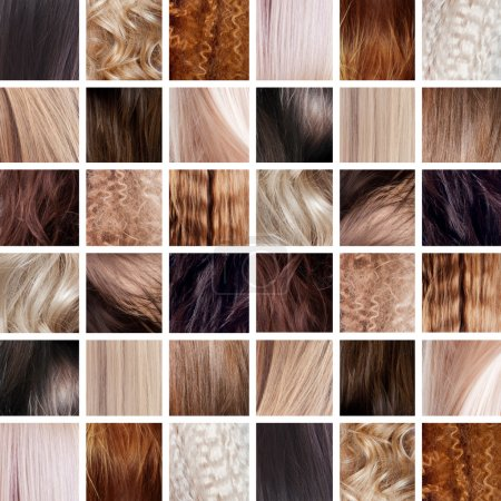 Collage, Hair Colors Set