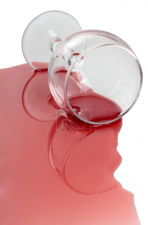 Wineglass and alcohol
