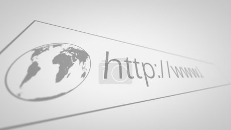 Computer Screen With Address Bar of Web Browser