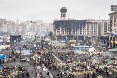 Kiev, Ukraine. March 1, 2014. After Strike on the Independence s