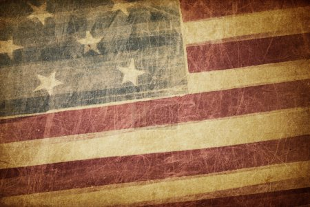 Photo pour Fond grunge Vintage drapeau américain - image libre de droit